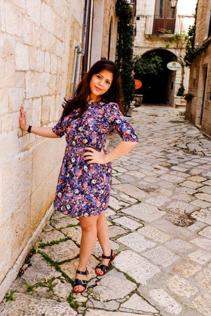 Wearing Zara Flower Print Dress