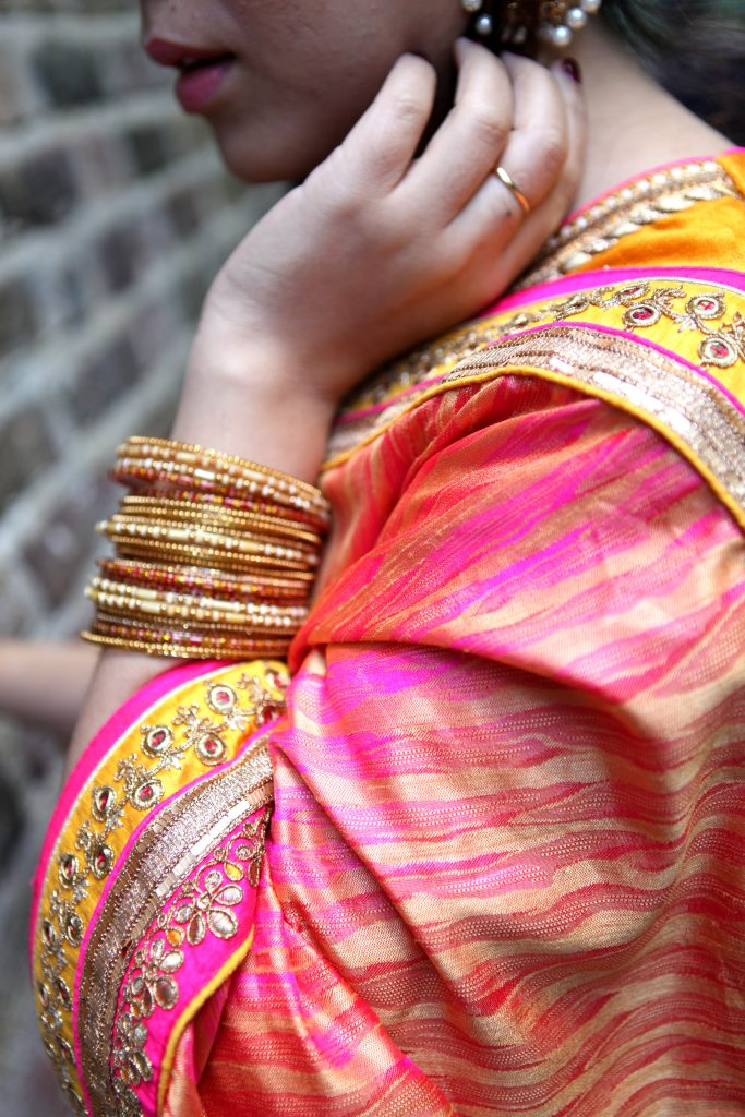 Indian fashion blogger Diwali Look wedding Indian Sari from India London