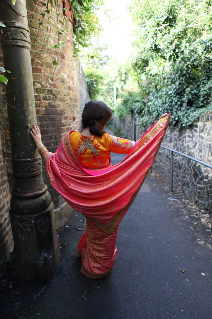 Indian fashion blogger Diwali Look Indian wedding sari blog Sari from India London